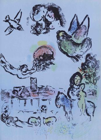 Marc Chagall-Lithographe I-IV (Cramer Books 43, 56, 77 ,94)-1974