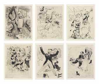 Marc Chagall-Nicolai Gogol: Les Ames Mortes-1948