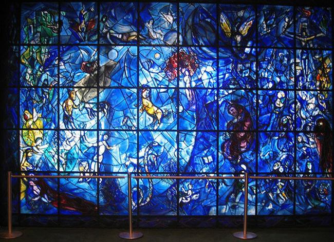 Marc Chagall - Peace Window, 1964, UN building, New York, USA, photo credits - Marc Chagall Art
