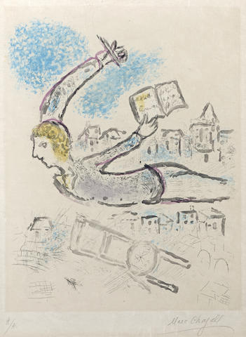 Marc Chagall-Plate 2, from De Mauvais Sujets-1958