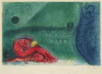 Marc Chagall-Quai de la Tournelle, from Regards sur Paris-1960