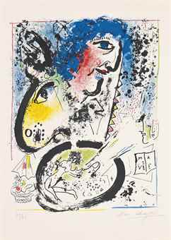 Marc Chagall-Self-Portrait-1960