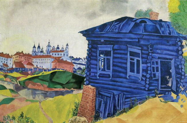 Marc Chagall - The Blue House, 1917, photo credits - Marc Chagall Art