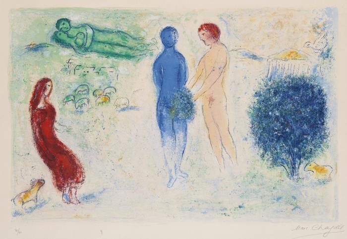 Marc Chagall-The Judgement Of Chloe-