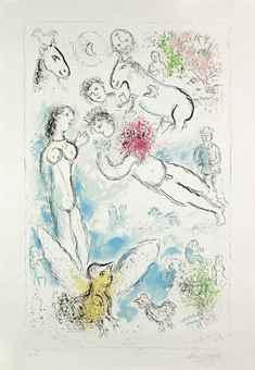Marc Chagall-The Magic Flight-1980