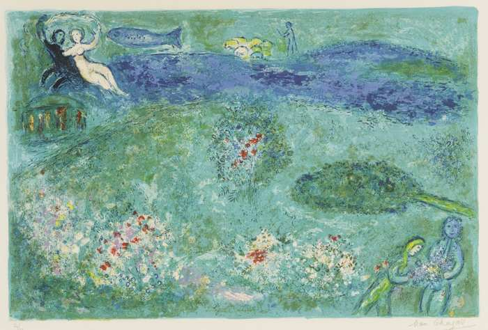 Marc Chagall-The Orchard-1961
