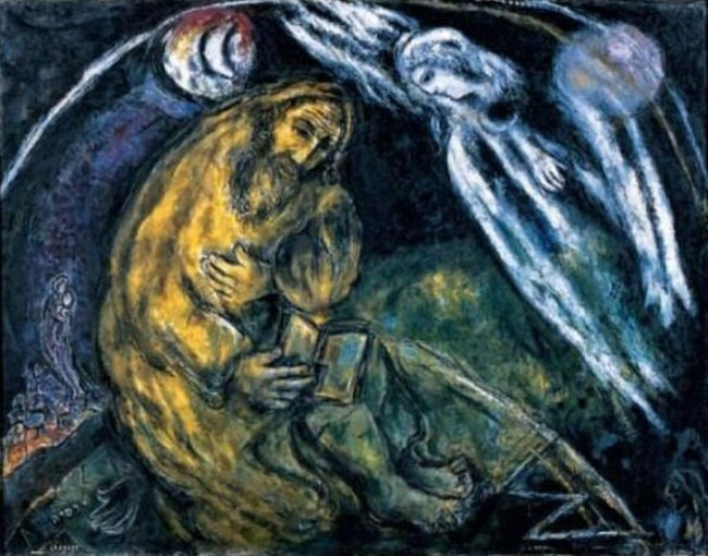 Marc Chagall - The Prophet Jeremiah, 1968, The Bible illustrations, photo credits - Wikimedia