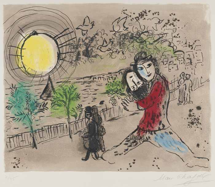 Marc Chagall-The Yellow Sun-1968