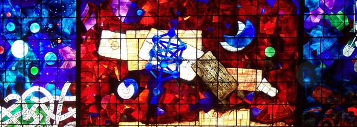 Marc Chagall - Vitrage Window for Hebrew University Jerusalem (detail), 1962, photo credits - Marc Chagall Art