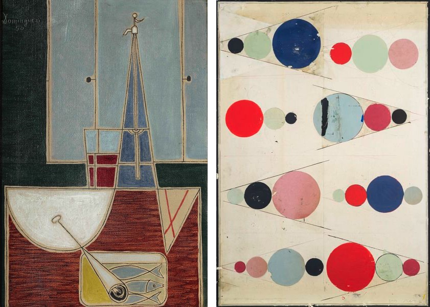 Óscar Domínguez - Naturaleza muerta con sifón y lata de sardinas, 1950, Regina Giménez - Untitled, 2019