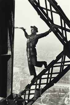 Marc Riboud-The Painter of the Eiffel Tower, Paris-1953