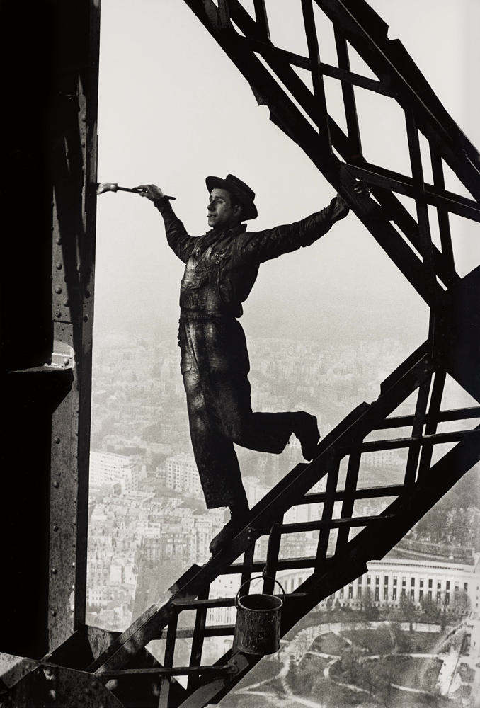 Marc Riboud-The Painter of the Eiffel Tower, Paris, France-1953