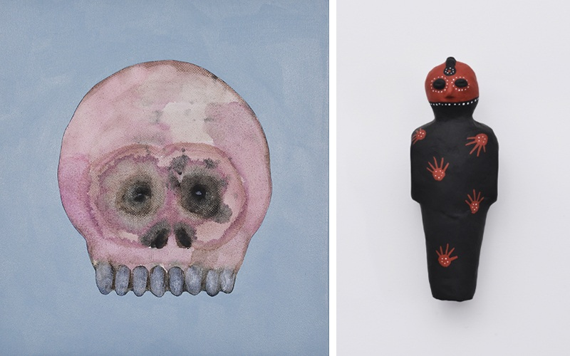 Marc Standing - Skullface and a Figurine 2, 2015, image courtesy of The Cat Street Gallery