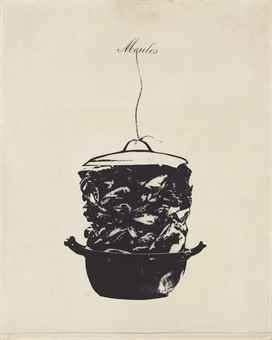 Marcel Broodthaers-Casserole de moules avec ficelles-1967