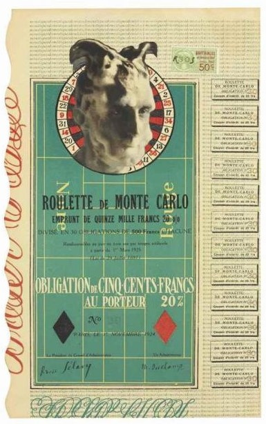 Marcel Duchamp-Monte Carlo Bond (No. 30)-1924