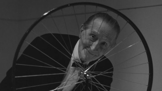 Marcel Duchamp - The artist in front of his work - Photo Credits Mattatuck Museum