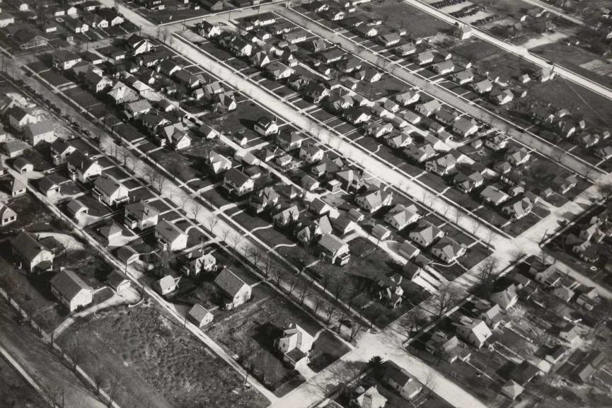 Aerial View of Single Family Houses