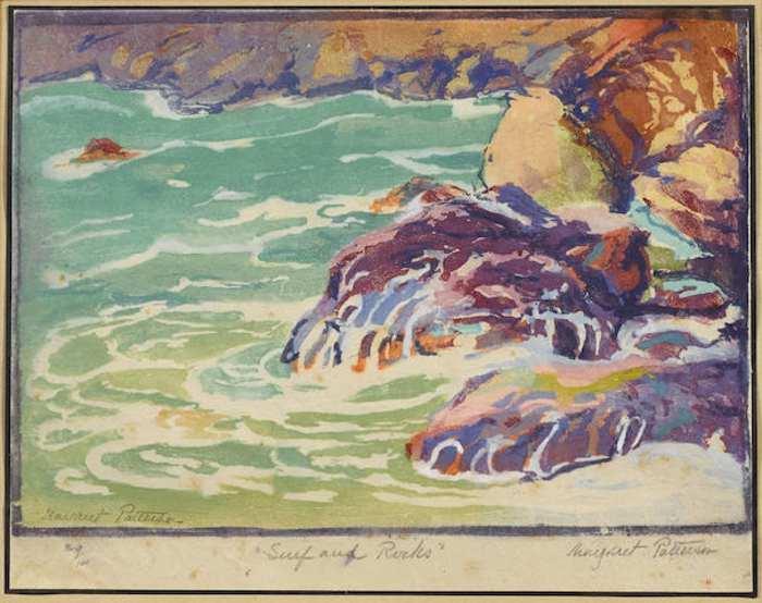Margaret J. Patterson-Surf and Rocks-1920
