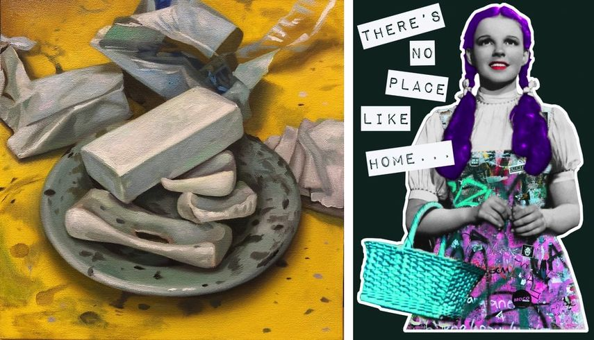 Margaret Morrison - Studio Soap Dish, 2020, Artwork by The Postman, Words by Broken Artist - Stay Home, 2020