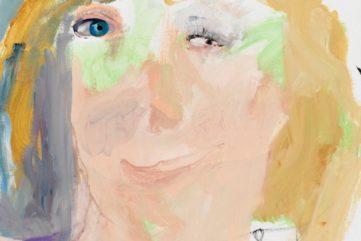 Margot Bergman portraits 2014 acrylic linen dempsey canvas corbett inches