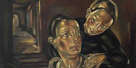 Maria Blanchard - La cuisiniére (detail), 1923 - image via christiescom