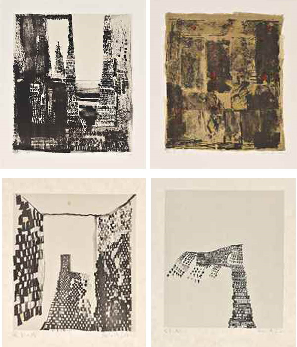 Maria Helena Vieira da Silva-Untitled (Four Lithographs)-1971
