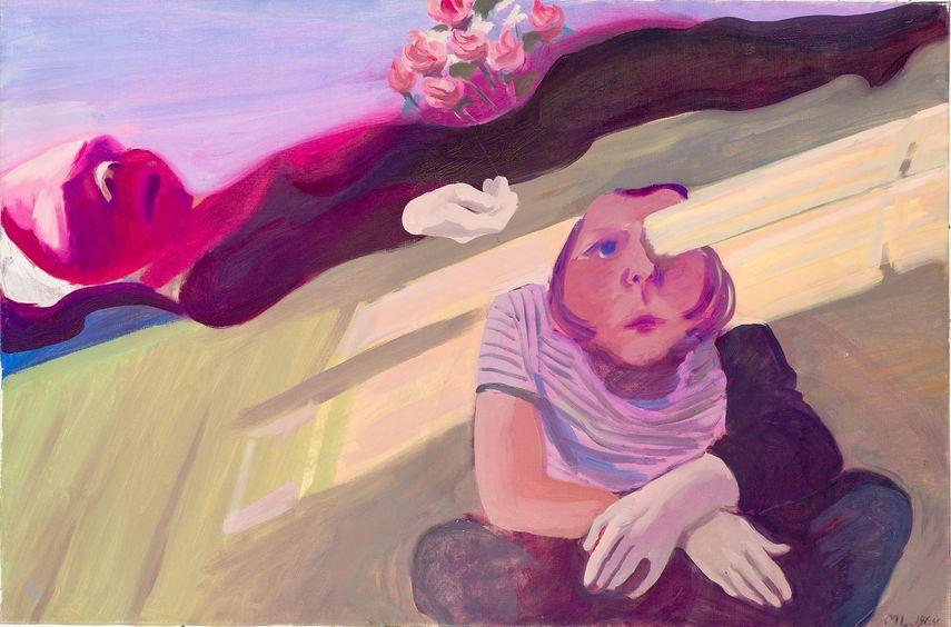 Maria Lassnig - Balken im Auge / Trauernde Hände, 1964
