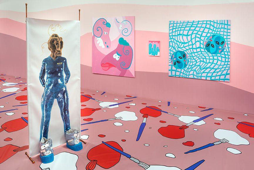 A disturbance traveling through a medium, installation view, 2016