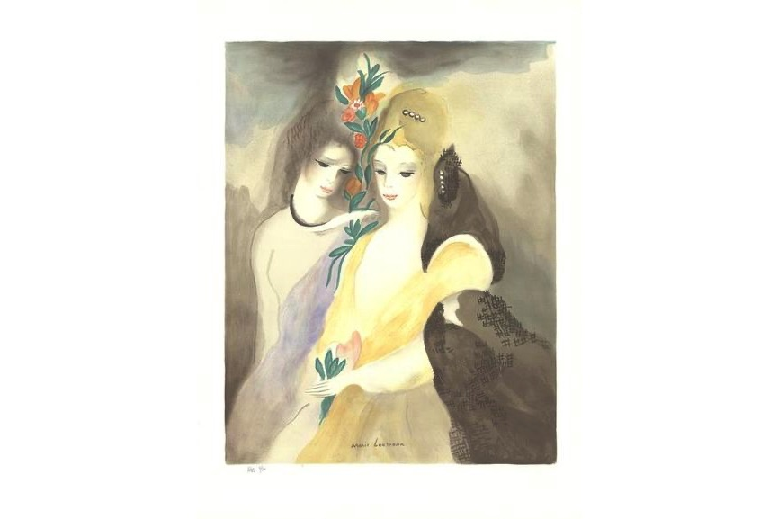 Marie Laurencin - Girls with Flowers, 1965