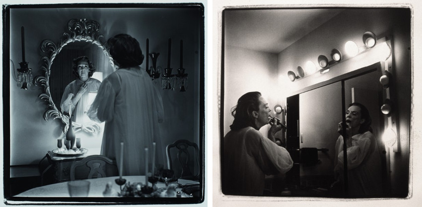 Marilyn Minter - Mom in Wig, 1969 (Left) - Mom Making Up, 1969 (Right), images from Coral Ridge Towers series 2009 projects