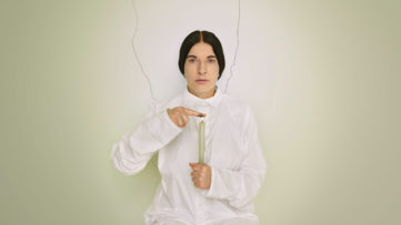 Marina Abramović - Artist Portrait with a Candle (detail), 2013, from the series 'Places of Power'