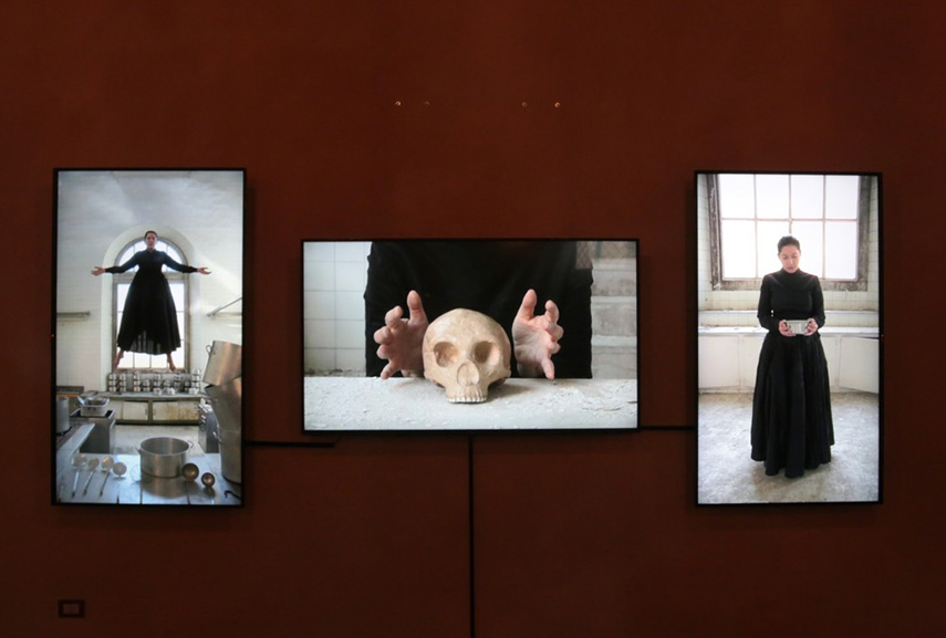 Marina Abramović - The Kitchen, presented by Lisson gallery and Zuecca Projects in Venice 2017, with artworks produced by Factum Arte