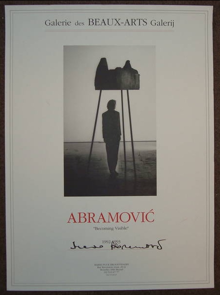 Marina Abramovic-Becoming Visible-1992
