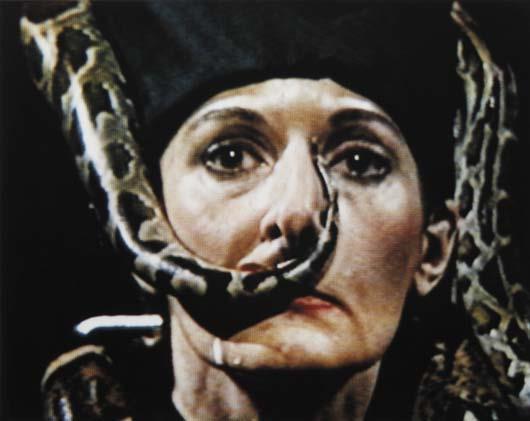 Marina Abramovic-Dragon Head-1990