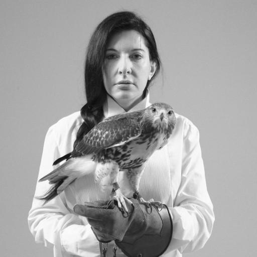 Marina Abramovic-Portrait with Falcon-2010