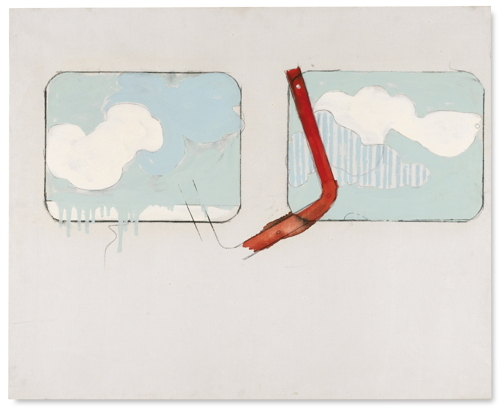 Mario Schifano-Paesaggio-1965