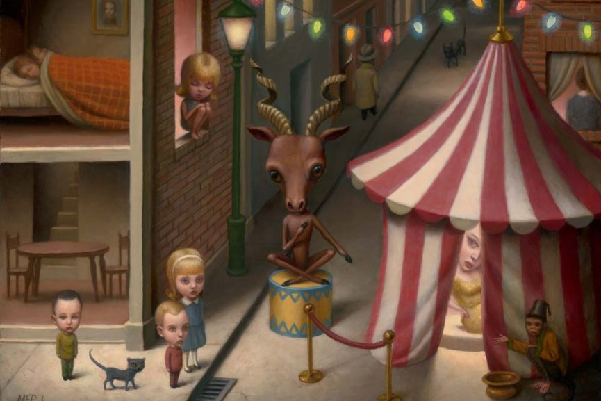 Editions Limited Gallery pop surrealism at its best in works by marion peck at magda