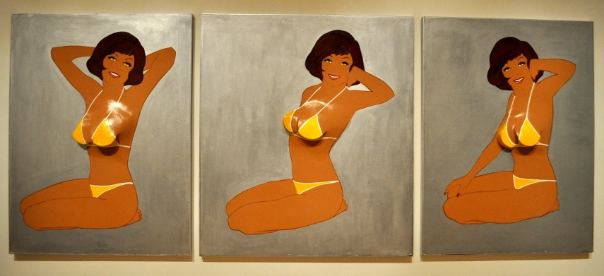Marjorie Strider - Triptych II, 1963 - Image via pinterestcom