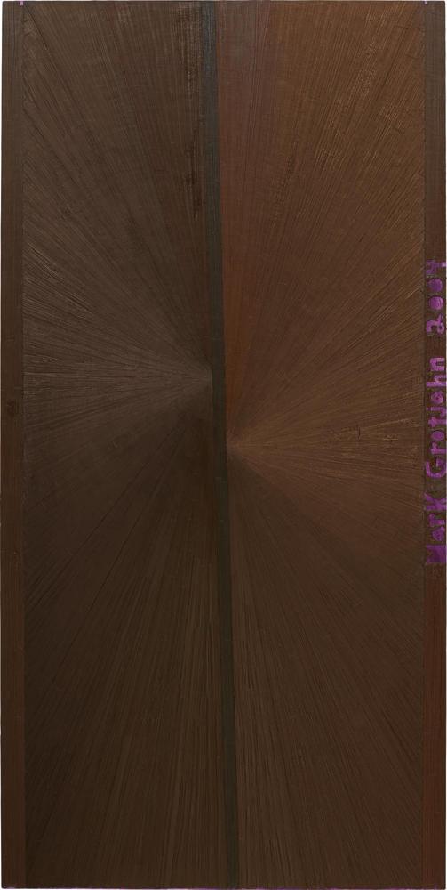 Mark Grotjahn-Untitled (Brown Butterfly Purple)-2004