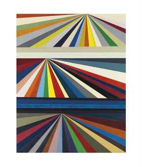 Mark Grotjahn-Untitled (Three-Tiered Perspective)-1999