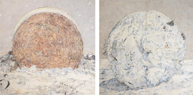 Mark Mastroianni - Hay Bale, 2010 and Snow Ball, 2010