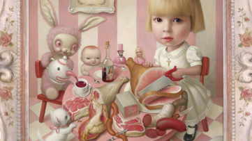 Mark Ryden - Rosie s Tea Party, 2005 detail - Image via Ncac org