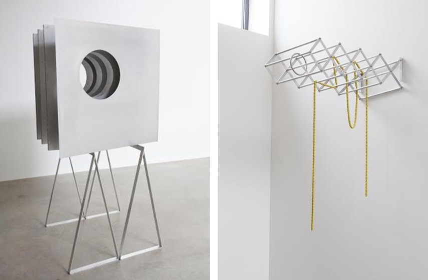 Markus Wilfling - Sculpture, 2015 (left), Linien Der Brauchbarkeit II, 2015 (right)