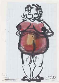Marlene Dumas-Body Like a Cherry-1989