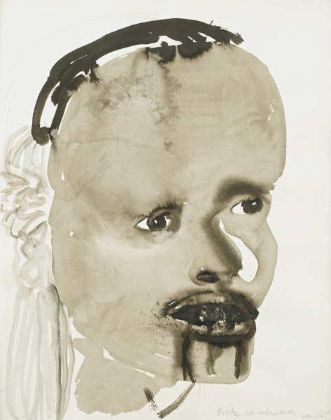 Marlene Dumas-Bride With Broken Teeth-1995