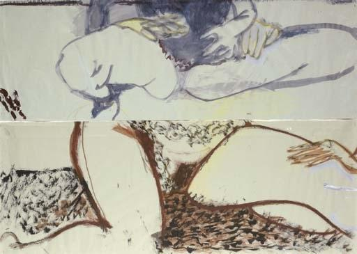 Marlene Dumas-Die Eenzamheid Van De Eigenhand (the Loneliness Of One's Own Hand)-1983