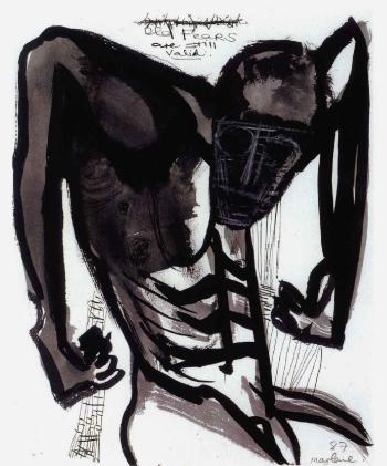 Marlene Dumas-Old Fears are still valid-1987