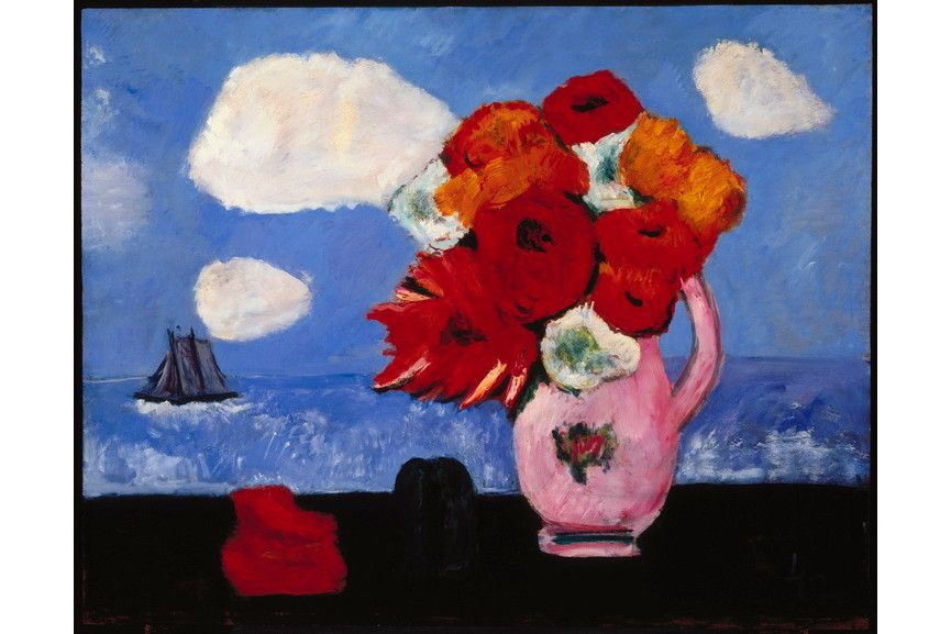 Marsden Hartley - Summer Clouds and Flowers