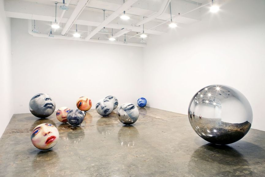 Martin C. Herbst - Spheres, installation of 11