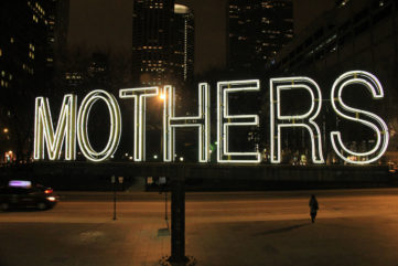 Martin Creed - Work No. 1357, MOTHERS, 2012. Image by Daniel X. O'Neil